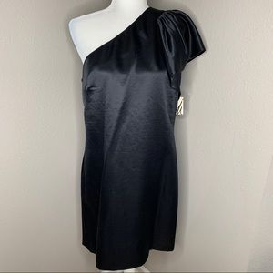 Milly of New York Satin One Shoulder Mini Dress